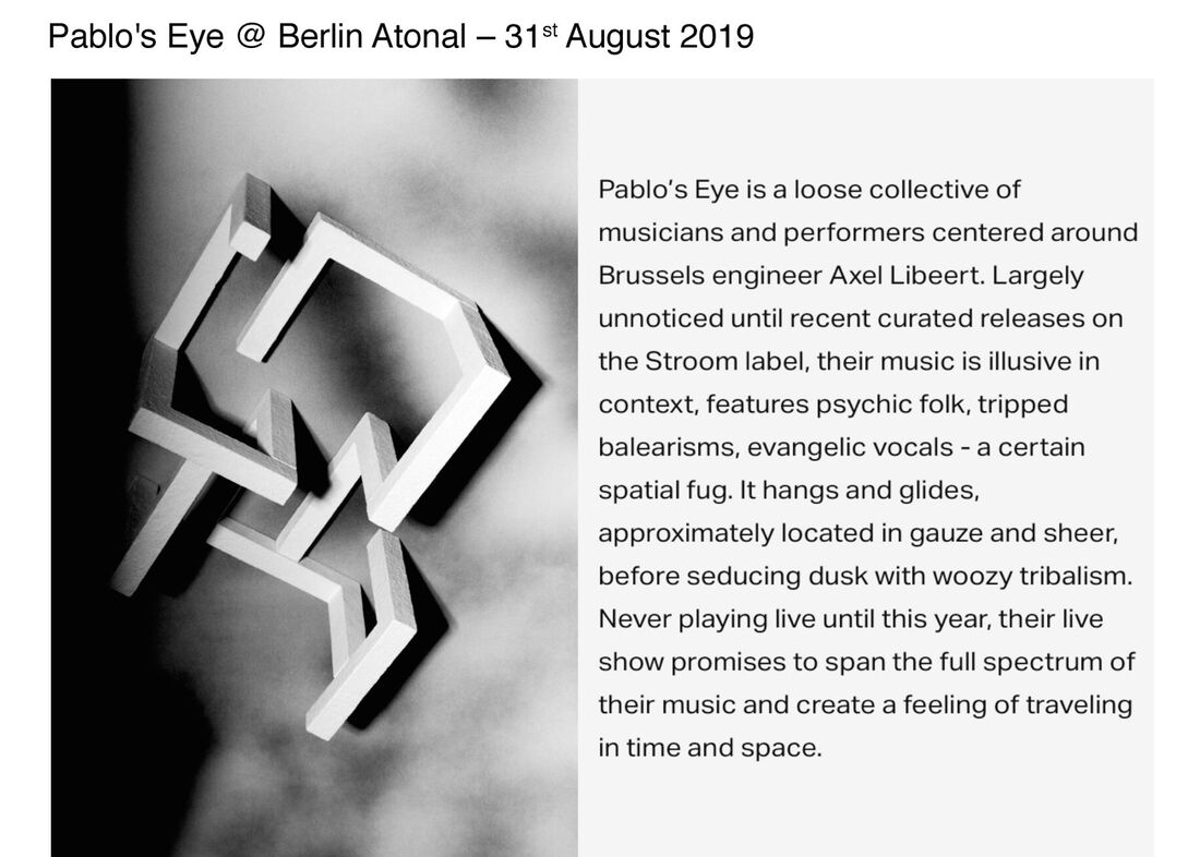 Berlin Atonal 2019 - Press release Pablo's Eye